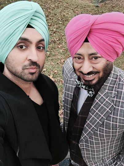 Sardaar Ji Shooting Diljit Dosanjh With Jaswinder Bhalla