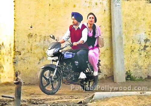 Diljit and Kareena On Bike