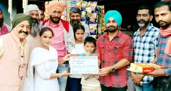 ravinder grewal 15 lakh kadon auga movie shoot