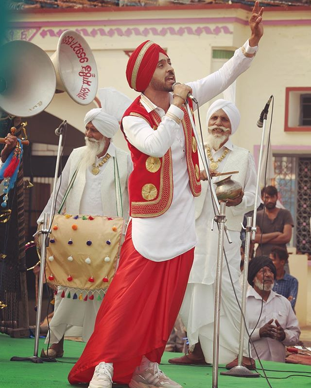 Diljit Dosanjh in punjabi traditional dress