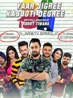 yaar jigree kasooti degree web series